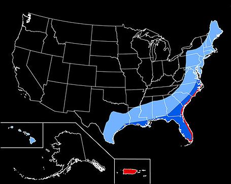 Hurricane Hazard Risk Map for US