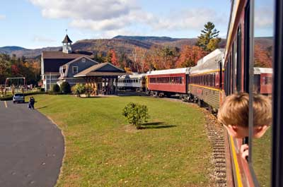 Train ride in White Mountains