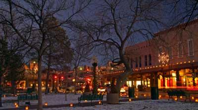Santa Fe at Christmas